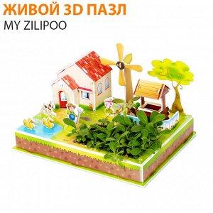 """Живой 3D пазл My Zilipoo """"Мельничный садик"""""""