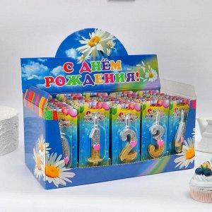 """Шоу-бокс со свечами для торта цифры """"Сердечки"""" 50 штук 1568450"""