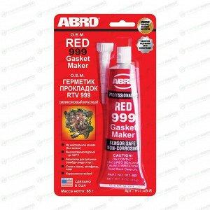 Герметик прокладка АВRО 999 силиконовый OEM, красный,  85гр