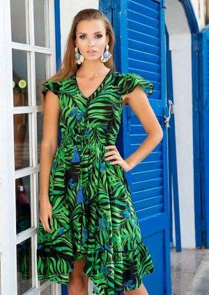 Платье 21A-227 V  Платье S-M, 106 см, вискоза, принт
