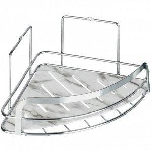"""""""FORA"""" Полка для ванной, угловая """"Marble"""" 20х20х10см FOR-MAR01-U"""