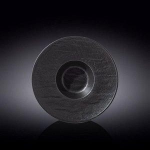 WILMAX SLATESTONE Тарелка круглая, глубокая 24см, цв.черный WL-661115 / A