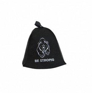 """Шапка для сауны """"Be strong"""" 20623"""