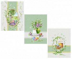 Комплект полотенец 48*60 см, 3 шт., рогожка (Весна)
