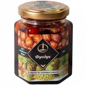 Фундук в сиропе из сосновой шишки, 200 гр