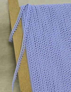 Кружево хлопок-90%, п/э-10%, 10мм, цв.голубой
