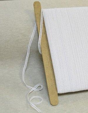 Кружево цв.белый, 8мм, хлопок-100%