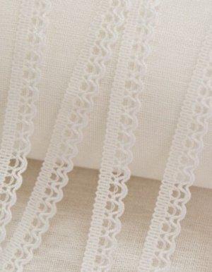 Кружево цв.белый, 11мм, хлопок-90%, п/э-10%