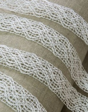 Кружево цв.белый, 35мм, хлопок-84%, п/э-16%