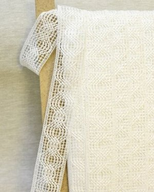 Кружево цв.белый, 40мм, хлопок-84%, п/э-16%