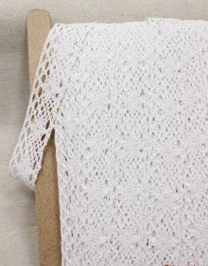 Кружево цв.белый, 40мм, хлопок-100%