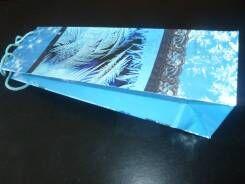 """Бумажный подарочный пакет """"Под бутылку"""""""