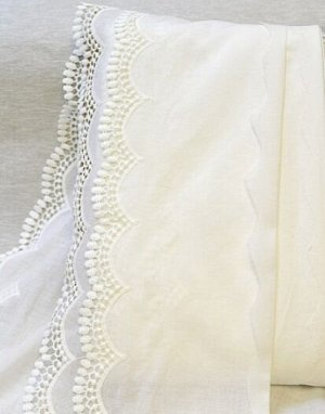 Шитье цв.молочный (общая ширина 195мм, ширина вышивки 80мм), хлопок-100%, батист