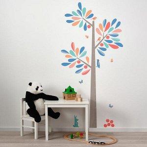KINNARED КИННАРЕД Декоративные наклейки, ростомер-дерево160 см