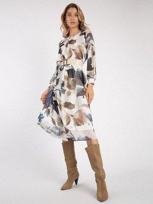Шифоновое платье с принтом PL1075/loman