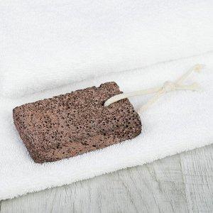 Пемза для педикюра, натуральная, 10 ? 6 см, цвет коричневый
