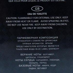 Туалетная вода мужская Elements Blue, 100 мл
