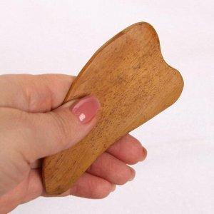 Массажёр Гуаша «Сердце», деревянный