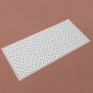 Аппликатор - коврик, 26 ? 56 см, 144 модуля, цвет белый/зелёный