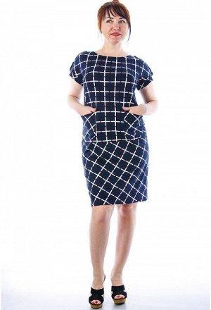 Платье 127 Состав: хлопок 100% Описание: Элегантное платье в классичесскую клетку из мягкой, приятной, но в то же время плотной и практичной ткани - интерлок. Платье подойдет и для работы в офисе, и к