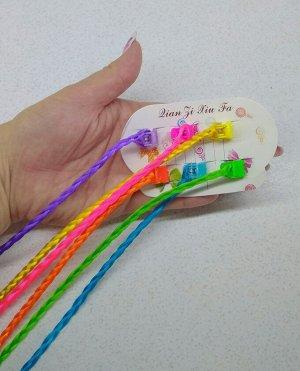 Локоны Комплект из 6 косичек с крабиком для фиксации,длина косичек около 30см.