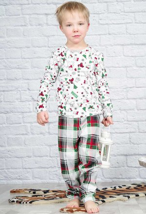 """Пижама """"Новый год"""", длинный рукав"""
