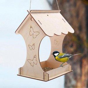 Kopмушка для птиц «Бабочка», 15 ? 16 ? 24 см