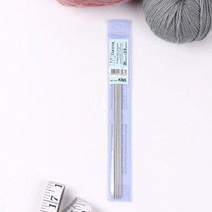 Спицы для вязания, чулочные, d = 2 мм, 20 см, 5 шт