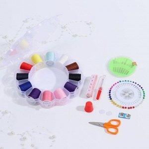 Набор для шитья в пластиковой коробке