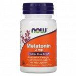 Мелатонин NOW Melatonin 3 мг - 60 капсул
