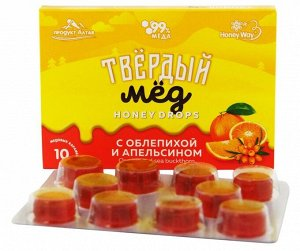 Твердый мед (облепиха/апельсин) 30 гр