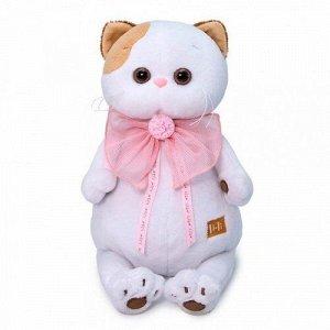Игрушка мягк. Кошечка Ли-Ли с розовым бантом,24 см