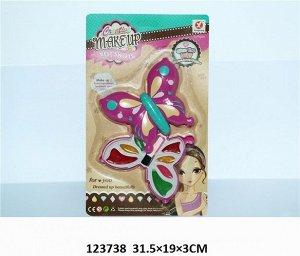 Набор  детской косметики Бабочка, блистер 31*19*3см