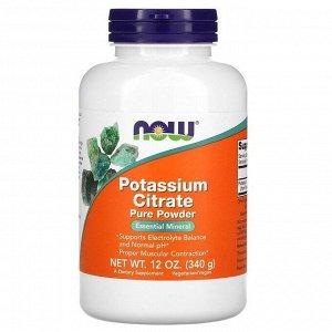 Калий NOW Potassium Citrate powder - 340 г.