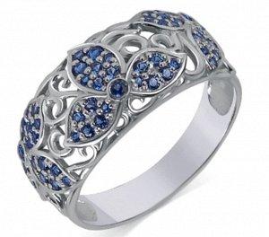 Кольцо с фианитом родированное серебро 925*