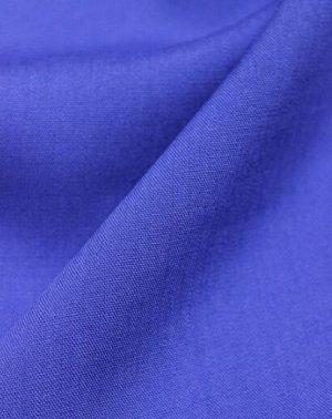 Штапель цв.Васильковый-2, ш.1.45м, вискоза-100%, пл.110гр/м.кв