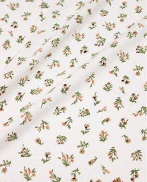 """Плательная вискоза """"Весенние букетики на белом"""", ш.1.45м, вискоза-100%, 145гр/м.кв"""