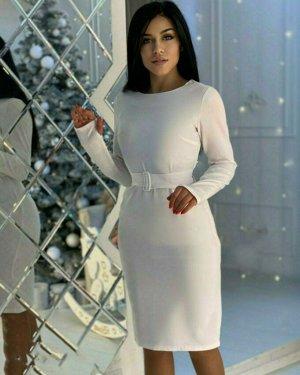 Платье ТКАНЬ: БАРБИ, ПОЯС В КОМПЛЕКТЕ