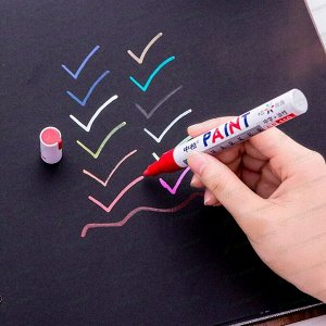 Маркер эмалевый Sipa Paint Marker, чёрный, перманентный, для различных поверхностей, 4мм