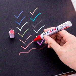 Маркер эмалевый Sipa Paint Marker, белый, перманентный, для различных поверхностей, 4мм