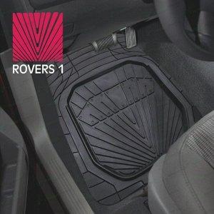 Коврики универсальные CARFORT ROVERS 1 для переднего и заднего ряда, черный цвет, ванночка, 4шт