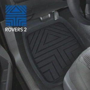 Коврики универсальные CARFORT ROVERS 2 для переднего и заднего ряда, черный цвет, ванночка, 4шт