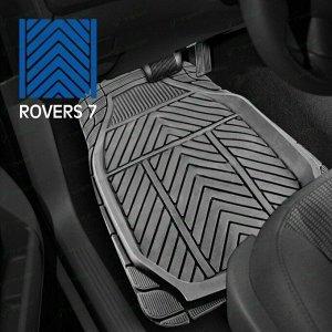 Коврики универсальные CARFORT ROVERS 7 для переднего и заднего ряда, серый цвет, 4шт