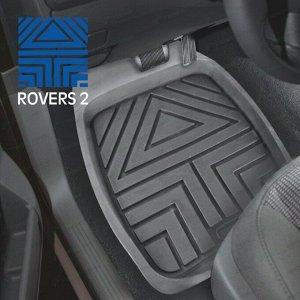 Коврики универсальные CARFORT ROVERS 2 для переднего и заднего ряда, серый цвет, ванночка, 4шт