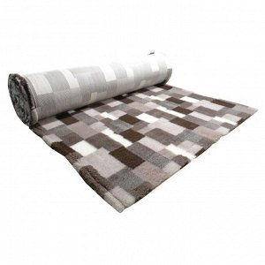 ProFleece коврик меховой В Клетку 1х1,6 м лиловый/шоколадный