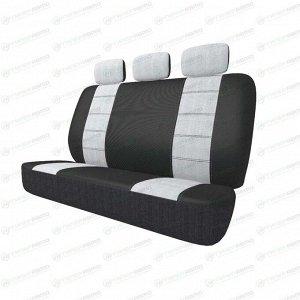 Чехлы CARFORT NEOCLASSIC для задних сидений, ткань, серый цвет, 5 предметов