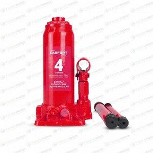 Домкрат гидравлический бутылочный Carfort, 4000кг, подъем 195-380мм, сумка