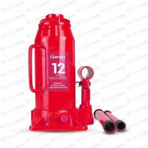 Домкрат гидравлический бутылочный Carfort, 12000кг, подъем 245-485мм, сумка