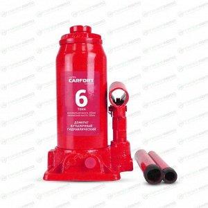 Домкрат гидравлический бутылочный Carfort, 6000кг, подъем 200-405мм, сумка