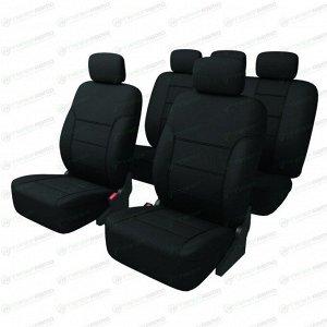 Чехлы CARFORT SHIELD для передних и задних сидений, ткань, черный цвет, 9 предметов